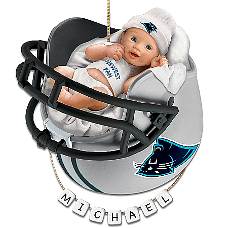Photo of Carolina Panthers Personalized Baby's First Christmas Ornament by The Bradford Exchange Online