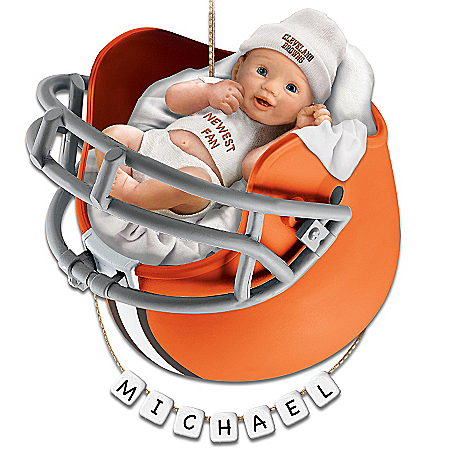 Photo of Cleveland Browns Personalized Baby's First Christmas Ornament by The Bradford Exchange Online