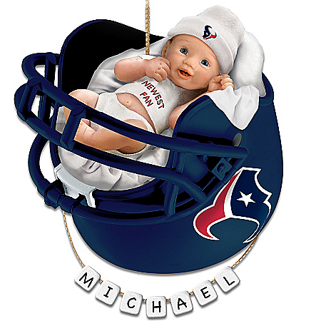 Photo of Houston Texans Personalized Baby's First Christmas Ornament by The Bradford Exchange Online
