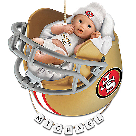 Photo of San Francisco 49ers Personalized Baby's First Christmas Ornament by The Bradford Exchange Online