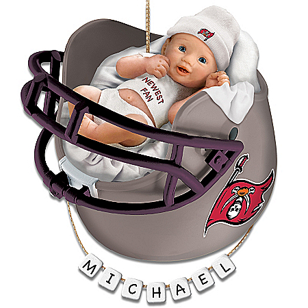 Photo of Tampa Bay Buccaneers Personalized Baby's First Christmas Ornament by The Bradford Exchange Online