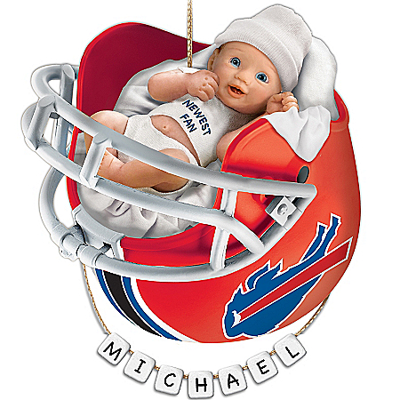 Photo of Buffalo Bills Personalized Baby's First Christmas Ornament by The Bradford Exchange Online