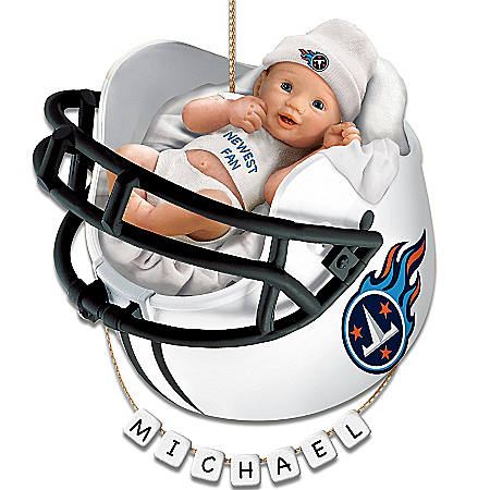 Photo of Tennessee Titans Personalized Baby's First Christmas Ornament by The Bradford Exchange Online
