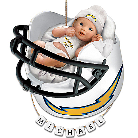 Photo of San Diego Chargers Personalized Baby's First Christmas Ornament by The Bradford Exchange Online