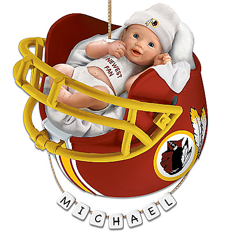 Photo of Washington Redskins Personalized Baby's First Christmas Ornament by The Bradford Exchange Online