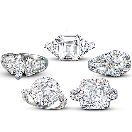 Photo of A Spectacular Statement Ring: Available In Five Different Cuts by The Bradford Exchange Online
