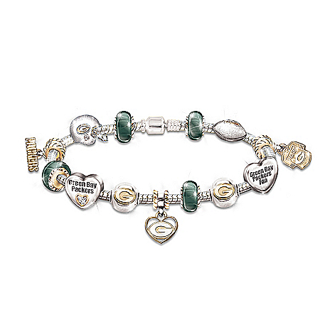 Photo of Go Packers! #1 Fan Charm Bracelet by The Bradford Exchange Online
