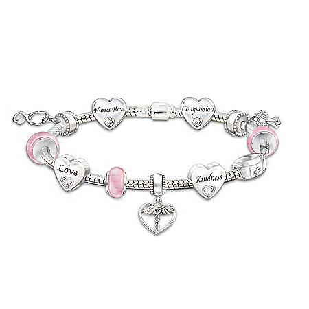 Photo of A Nurse's Heart Charm Bracelet by The Bradford Exchange Online