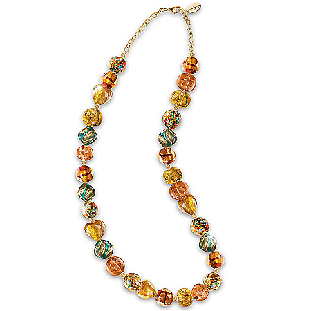 Photo of Necklace: Thomas Kinkade Colors Of Venice Murano-Style Glass Necklace by The Bradford Exchange Online