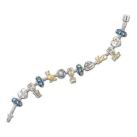 """Photo of Charming Touches """"I Love My Cat"""" Charm Bracelet by The Bradford Exchange Online"""
