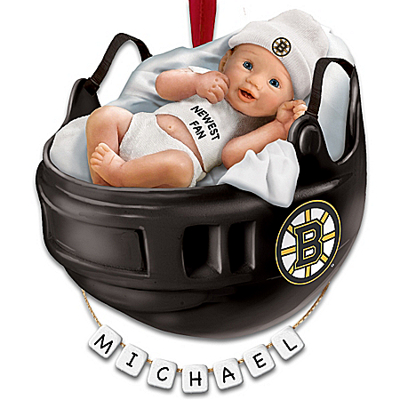 Photo of NHL® Boston Bruins® Personalized Baby's First Ornament by The Bradford Exchange Online