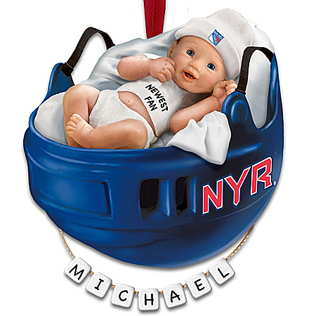 Photo of NHL® New York Rangers® Personalized Baby's First Ornament by The Bradford Exchange Online