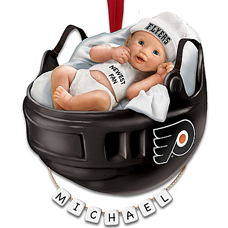 Photo of NHL® Philadelphia Flyers® Personalized Baby's First Ornament by The Bradford Exchange Online