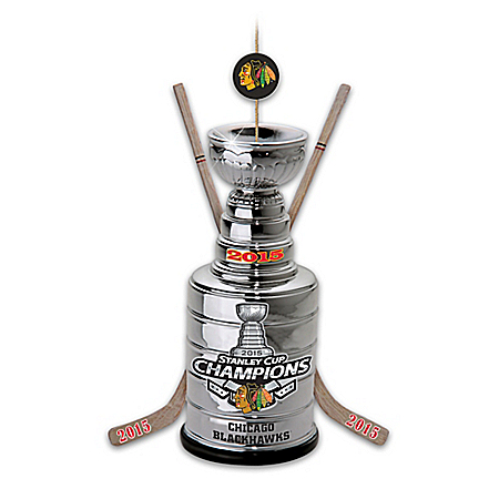 Photo of Chicago Blackhawks® 2015 Stanley Cup® Champions Ornament by The Bradford Exchange Online