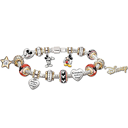 Photo of A Walt Disney Style Celebration: Mickey Mouse Charm Bracelet by The Bradford Exchange Online