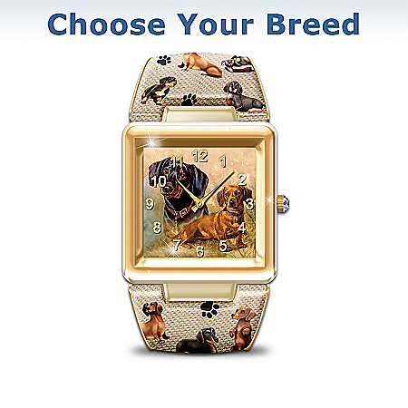 Photo of I Love My Dog Women's Cuff Watch With Multiple Breeds To Choose From by The Bradford Exchange Online