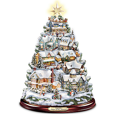 Photo of Thomas Kinkade Christmas Tabletop Tree: Songs Of The Season by The Bradford Exchange Online