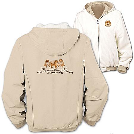 Photo of Loyal Companion Pomeranian Women's Fleece & Microfiber Reversible Jacket by The Bradford Exchange Online