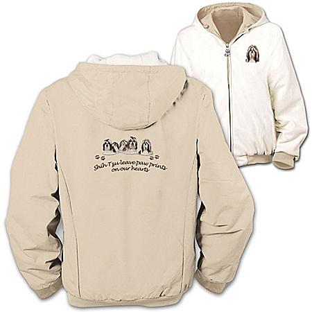 Photo of Loyal Companion Shih Tzu Women's Fleece & Microfiber Reversible Jacket by The Bradford Exchange Online