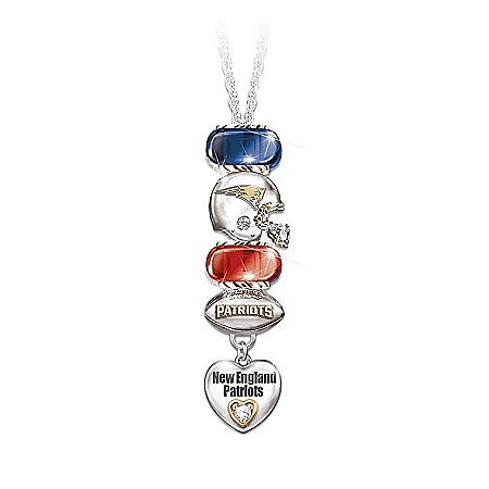 Photo of Go Patriots! #1 Fan Charm Necklace by The Bradford Exchange Online