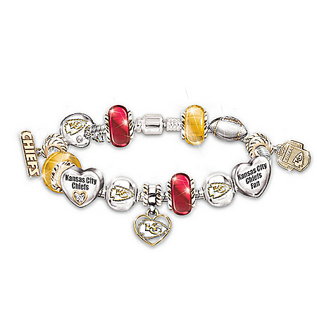 Photo of NFL Kansas City Chiefs #1 Fan Charm Bracelet: Go Chiefs! by The Bradford Exchange Online