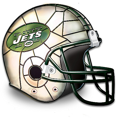 Photo of The New York Jets Louis Comfort Tiffany-Style Accent Lamp by The Bradford Exchange Online