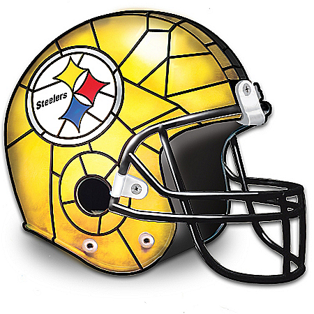 Photo of The Pittsburgh Steelers Louis Comfort Tiffany-Style Accent Lamp by The Bradford Exchange Online