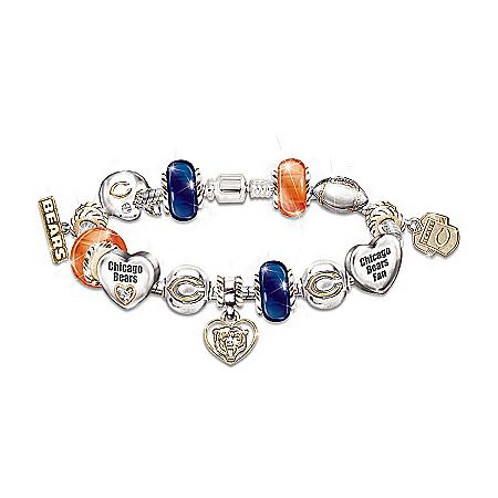 Photo of Go Bears! #1 Fan Charm Bracelet by The Bradford Exchange Online