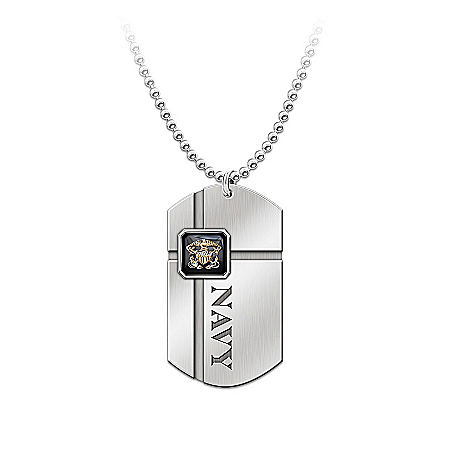 Photo of For My Sailor Pendant Dog Tag Pendant Necklace by The Bradford Exchange Online