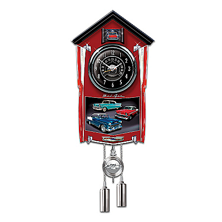 Photo of Chevy Bel Air Cuckoo Clock by The Bradford Exchange Online