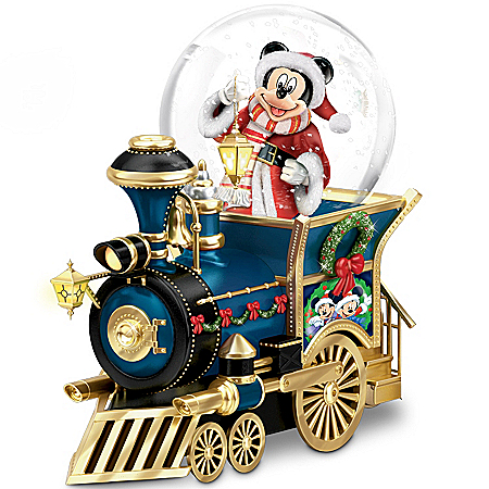 Photo of Disney Mickey Mouse Miniature Snowglobe: Santa Mouse Is Comin' To Town by The Bradford Exchange Online