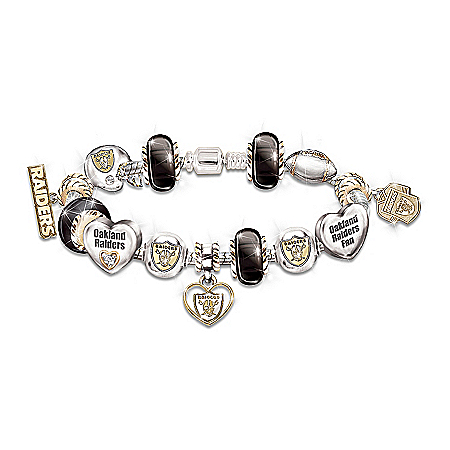 Photo of Go Raiders! #1 Fan Charm Bracelet by The Bradford Exchange Online