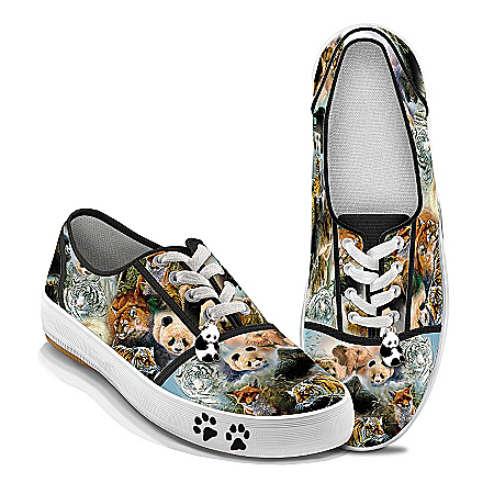 Photo of Wildlife Art Women's Shoes: Protect The Wild by The Bradford Exchange Online