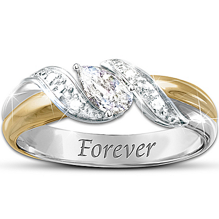 Photo of Heaven's Embrace White Topaz Bereavement Ring by The Bradford Exchange Online