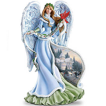 Photo of Thomas Kinkade Holly Angel Figurine by The Bradford Exchange Online