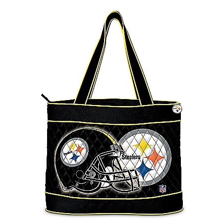 Photo of Pittsburgh Steelers Quilted Carryall Tote Bag by The Bradford Exchange Online