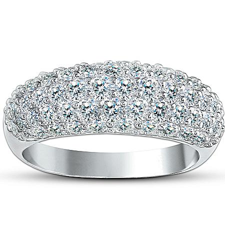 Photo of Decadence 3-Carat Diamonesk Simulated Diamond Ring by The Bradford Exchange Online