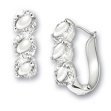 Photo of Celebration Birthstone And Diamond Earrings by The Bradford Exchange Online