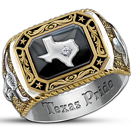 Photo of Spirit Of Texas Diamond Men's Ring by The Bradford Exchange Online