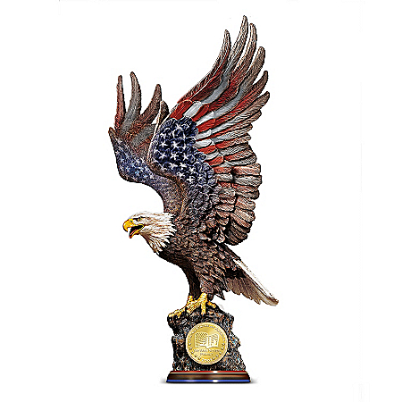 Photo of We Will Never Forget: Patriotic Eagle Sculpture Commemorating 9/11/2001 by The Bradford Exchange Online