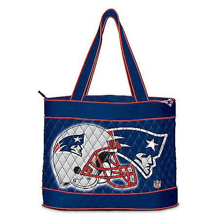 Photo of NFL New England Patriots Tote Bag by The Bradford Exchange Online