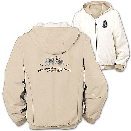 Photo of Loyal Companion Schnauzer Women's Fleece & Microfiber Reversible Jacket by The Bradford Exchange Online