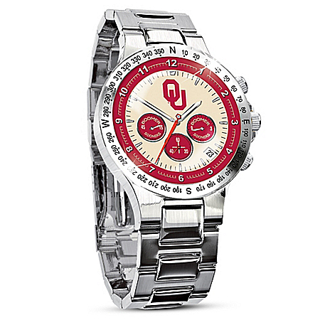 Photo of Oklahoma Sooners Collector's Watch by The Bradford Exchange Online
