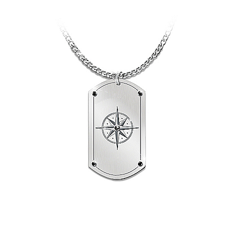 Photo of Dog Tag Pendant Necklace For Son: Forge Your Path, My Son by The Bradford Exchange Online