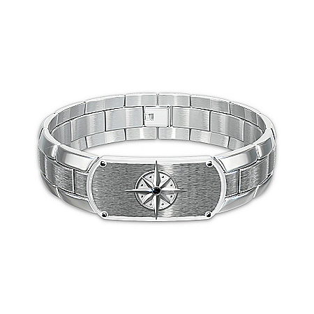 Photo of Men's Bracelet: Forge Your Own Path, My Son Bracelet by The Bradford Exchange Online