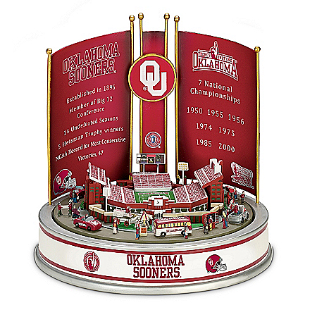 Photo of Oklahoma University Sooners Football Victory Carousel by The Bradford Exchange Online