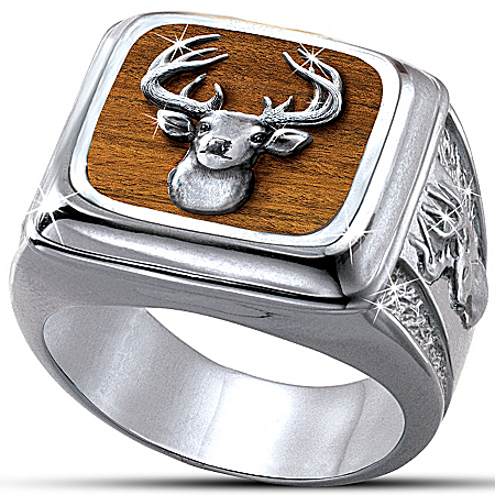 Photo of Men's Ring: Trophy 10-Point Buck by The Bradford Exchange Online
