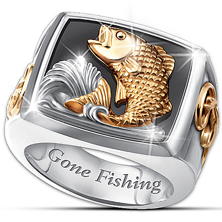 Photo of Men's Ring: Gone Fishing Ring by The Bradford Exchange Online