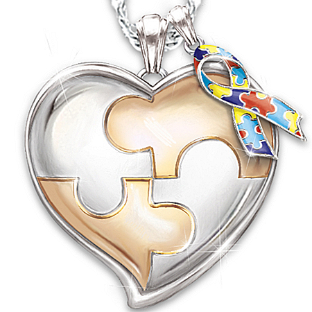 Photo of Autism Support Personalized Pendant Necklace: My Hero by The Bradford Exchange Online