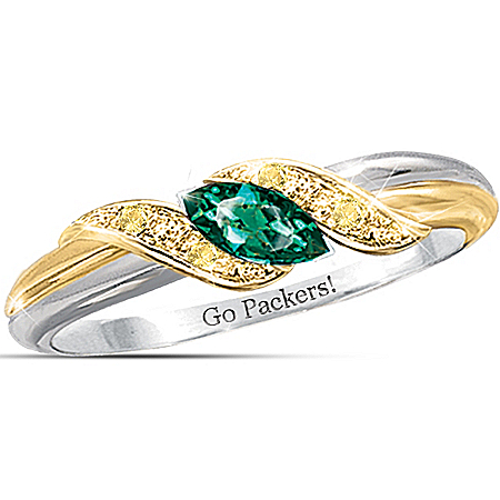 Photo of NFL Women's Embrace Ring: Pride Of The Packers by The Bradford Exchange Online